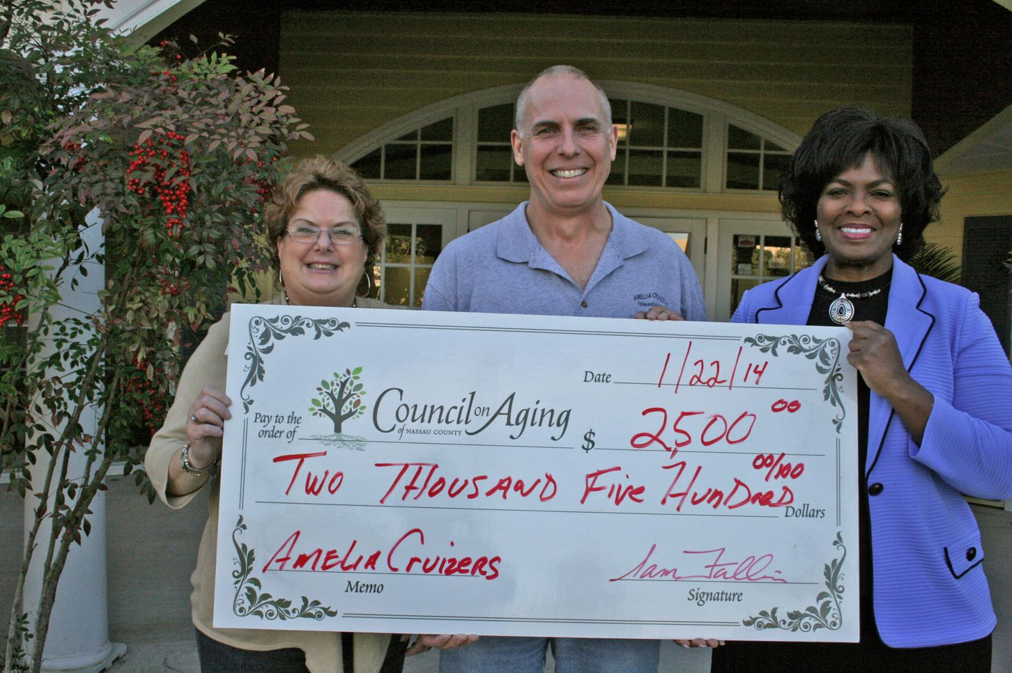 2013 Show Donation Check to the Nassau County Council on Aging